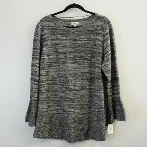 Style & Co Ruffled Hem and Cuff Pullover Sweater